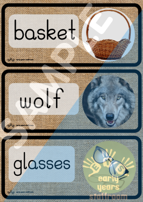 Word Cards - Understanding - EYFS