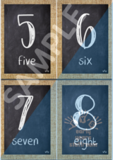 Hessian - Blackboard Numbers - Early Years